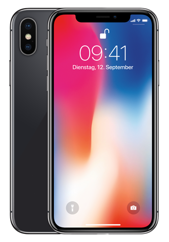Apple iPhone X 64GB LTE Space Grau