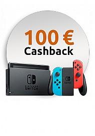 Nintendo Switch Konsole Rot Blau mit 100 EUR Cashback