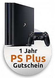 Sony PlayStation 4 Pro 1 TB Festplatte inklusive 1 Jahr PS Plus-Gutschein