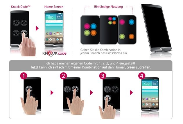 LG G3 Knock Code