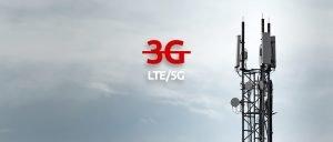 3G wird an den Funkmasten abgeschaltet.