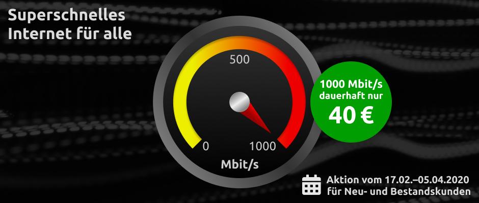 Vodafone bietet Gigabit-Kabeltarif zum Dauertiefpreis an.