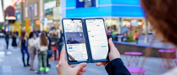 Das LG  G8XThinQ  lässt sich um ein zweites Display erweitern.