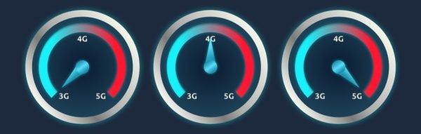 Mobilfunkstandards: Geschwindigkeiten von 3G, LTE und 5G im Vergleich.
