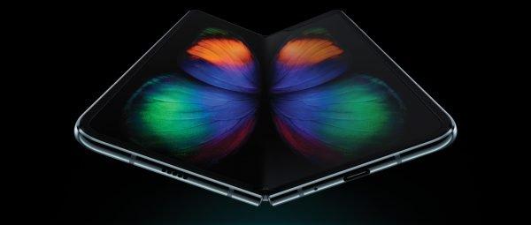 Klappt wie ein Buch auf: das Samsung Galaxy Fold 5G.