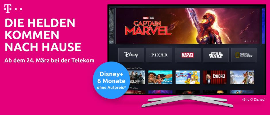 Exklusiver Deal: Telekom-Kunden schauen Streamingdienst Disney+ kostenlos.