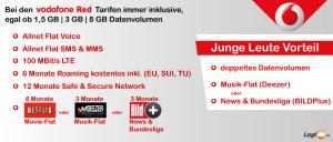 Neue Vodafone Red Tarife - Vorteile
