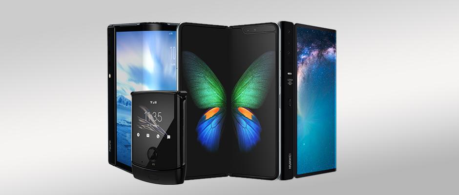 Die Foldables sind im Anmarsch: Huawei Mate X, Motorola razr, Samsung Galaxy Fold und Royole FlexPai.
