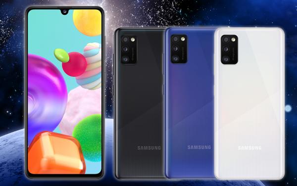 Das Einsteiger-Smartphone Samsung Galaxy A41 punktet mit einem hellen und scharfen OLED-Display.