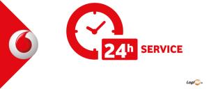 24 Stunden Service von Vodafone