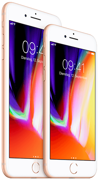 Apple iPhone 8 oder 8 Plus