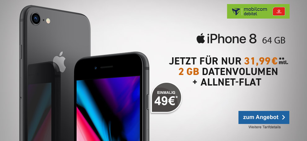 mobilcom-debitel Vodafone Comfort Allnet mit Apple iPhone 8 64GB