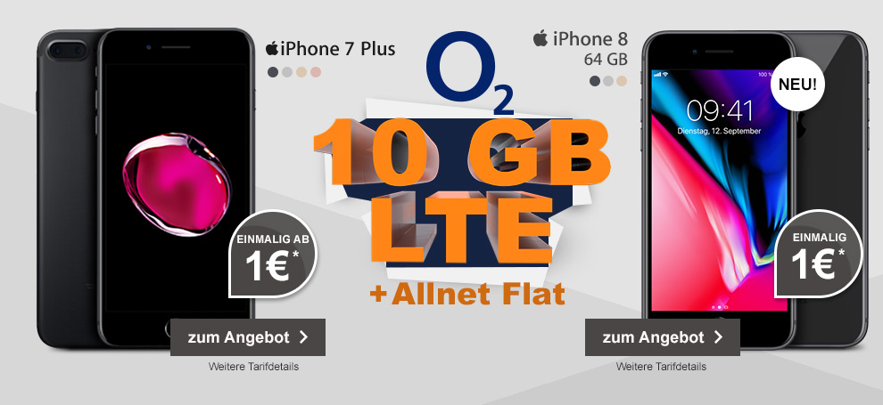 o2 Free M mit Apple iPhone 7 Plus oder Apple iPhone 8